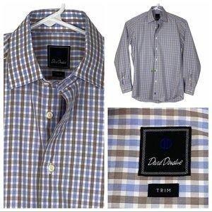 ExcCond David Donahue Trim Fit Dress Shirt 15 1/2
